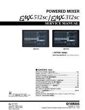 Yamaha EMX512SC EMX312SC Mixer Service Manual and Repair Guide