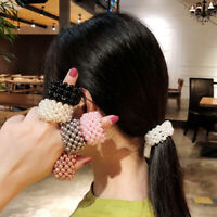 Girls Elastic Fashion Hair Bands Jewelry Ponytail Hair Rope Pearl Scrunchie