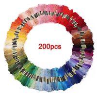 200 Madejas De Hilo Multicolor Para Punto De Cruz Crocheting Bordado G7N3