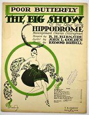 1916 Antique Fox Trot Art Nouveau ~The Big Show~ Poor Butterfly NY Hippodrome