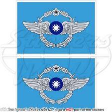 TAIWAN ROCAF Luftwaffe Flagge Taiwanesische Fahne 75mm Sticker, Aufkleber x2