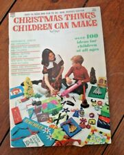 Christmas Things Children Can Make Vintage 1966 Maco Magazine Crafts Decorations