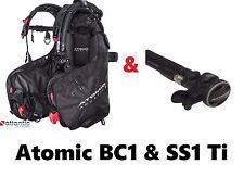Atomic Aquatics BC1 & Titanium SS1 Scuba BCD BLACK - MEDIUM