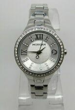 Morgan Ladies Quartz Analog Silver Dial Stainless Steel Watch - M1138SM