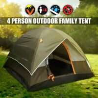 NEW 3-4 Person Camping Tent 210T Waterproof Double-layer Family Hiking Outdoor