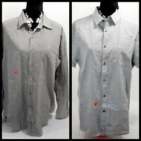 Lot of 2 - men's button up shirts, Austin Reed and March Anthony Luxury Slim Fit