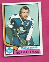 1974-75 TOPPS # 236 LEAFS NORM ULLMAN  EX-MT CARD(INV# A8526)