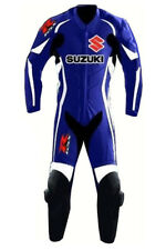 Motorcycle Leather Suzuki Racing Suit Cowhide Motorbike One Piece Suit