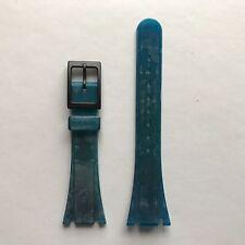 Vintage Tissot TwoTimer Blue Silicon Rubber Strap Short Type