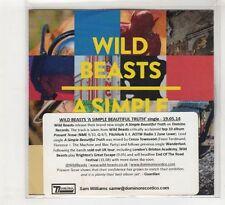 (HE276) Wild Beasts, A Simple Beautiful Truth - 2014 DJ CD