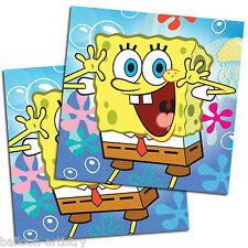 20 Spongebob Squarepants Children's Party Disposable 33cm Paper Lunch Napkins