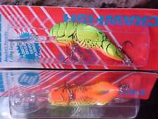 "Rebel 2 3/8"" 8-10 feet Running Crawfish Lure D7634 in CHART/GREEN BACK for BASS"