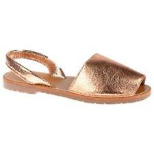 Sandalias y chanclas de mujer de color principal oro sintético talla 38