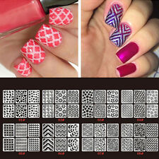 24 Sheets 3D Manicure Tips Decal DIY Women's Nail Art Transfer Stickers Beauty
