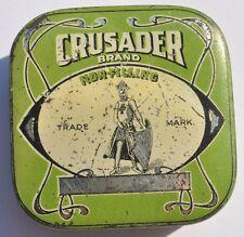 1930s UK Britain British CRUSADER BRAND Typewriter Ribbon Empty Tin Box