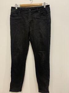 WITCHERY  Womens designer black slim leg denim jeans size 11  EUC