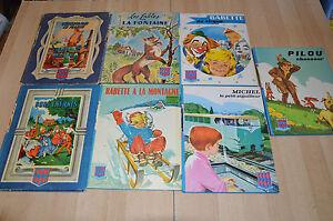 lot 7 livres : Sinbad, Babette, Pilou, Michel ...- Bibliothèque rouge et bleue