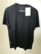 ICEBREAKER Men's Superfine Merino Wool Tech Lite SS BLACK T-Shirt MEDIUM - NEW