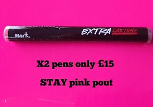AVON EXTRA LASTING PLUMP & STAY LIP COLOUR MARK STAY PINK POUT Pens joblot x2