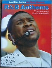 Audition Songs For Male Singers, R&B Anthems, Book + Backing Tracks On CD (PVG)