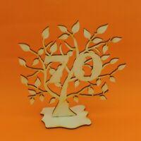 Jubiläums Baum 70 Geburtstag aus Holz 16 cm Lebensbaum Geschenk Hochzeit