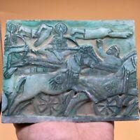 Wonderful sassanian Ancient unique carving stone relief big Tile