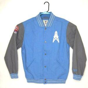 Vintage Reebok 50th Anniv Houston Oilers Blue Varsity Jacket Men's L EUC RARE OG