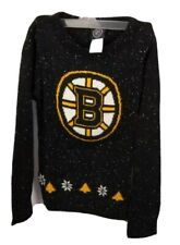NHL Boston Bruins Long Sleeve Knit Winter Size Youth Small 7-8 Sweater New