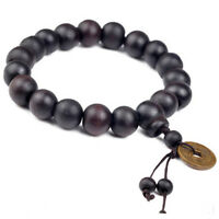 Fashion Men Wood Buddha Buddhist Prayer Beads Tibet Mala Wrist Bracelet n Gift