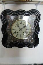 """Regulator reloj de pared antiguo """"oeil de Stroganoff"""" ochsenauge reloj francia 1870-1890"""