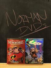 DISNEY Pixar's THE INCREDIBLES DVD + UP DVD 2 DVDS