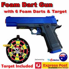 M1911 Pistol Costume Prop Toy Gun With Working Slide Foam Dart Bullets Target 1