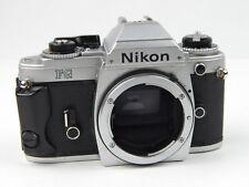 Nikon FG SLR 35mm Camera Body Chrome Only for repair - shutter sticks