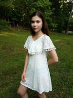 NEW Elisa B Tween Jr Ivory Lace Summer Girls Dress  sz 10 12 20 lk 8 10 18