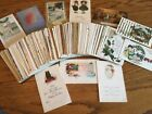 LARGE LOT 125 OLD VINTAGE CHRISTMAS & NEW YEAR POSTCARDS From early 1900s!