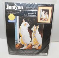 JANLYNN Shadow Cats Counted Cross Stitch Kit Kittens 1998 10 x 12 NEW