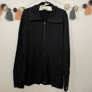 Lululemon Black Full Zip In Stride Jacket Size 12