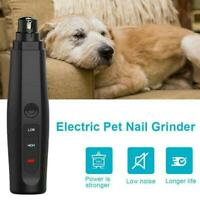 Professional Electric Pet Cat&Dog Nail Trimmer Grooming Tool Grinder Clipper U K