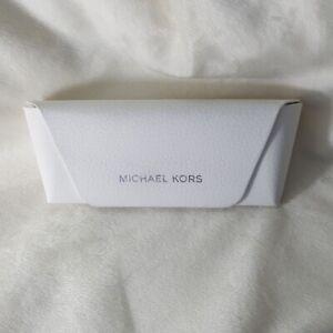New! Michael Kors Snap Closure Faux Leather Sunglass Glasses case
