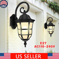 Retro Exterior Wall Light Fixture Shade Outdoor Lantern Sconce Porch Light Lamp