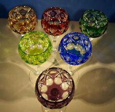6 WMF Cristall Cabinet - Kristall-Römer / Farbig - Kristallglas handgeschliffen