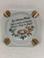 Vintage Plankenhammer Floss Bavaria Ashtray Porcelain Germany German 3 x 3