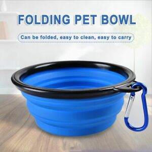 Portable Folding Water Bowl Dish Outdoor Silicone Dog Pet Feeding Food Supplies