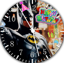 Batman Happy Birthday to Kid Frameless Borderless Wall Clock Nice For Gifts E293