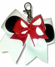 Minnie Mouse Cheer Bow keychain backpack hook