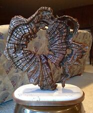 Abstract Sculpture: Solid Bronze Casting with Carrera marble base