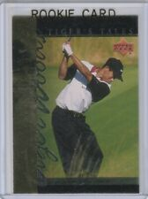 TIGER WOODS ROOKIE CARD Golf RC Foil 2001 Upper Deck INSERT PGA LE