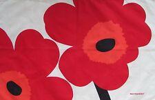 Marimekko Red Unikko Tea Towel Linen/Cotton NEW