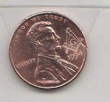 ABRAHAM LINCOLN MASONIC PENNY ONE CENT COIN FREEMASONS. Only pay post once