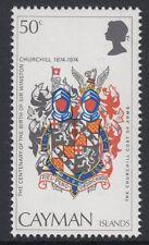 Churchill: 1974 Cayman è 50c 'CORONA A DESTRA DI CA' SG 381w Gomma integra, non linguellato